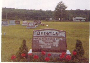 Hubert Meingast grave at Greenwood Cemetery