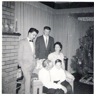 Udo, Mike, Hubert, George, and Mrs. Meingast about 1960